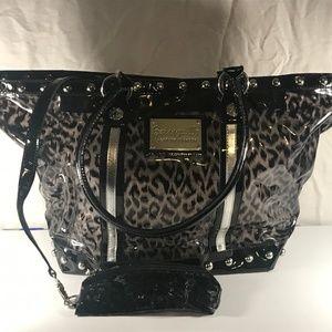 Betsey Johnson Betseyville PVC Large Purse Bag